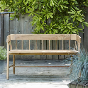 Byron Indoor Outdoor Bench - summer garden