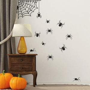 Spider Halloween Decoration Wall Sticker - party decorations