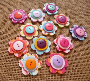 Set Of 12 Handmade Flower Drawing Pins - kitchen
