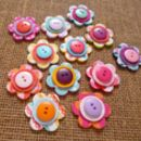 Set Of 12 Handmade Flower Drawing Pins