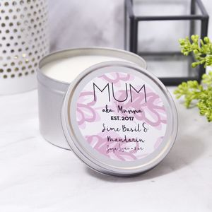 Personalised 1st Mother's Day Tin Scented Candle - personalised mother's day gifts