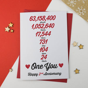 Anniversary Card Personalised - shop by category