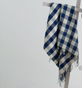 Organic Kala Cotton Towel Checks - bathroom