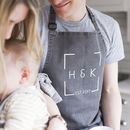 Personalised Wedding Date Denim Apron