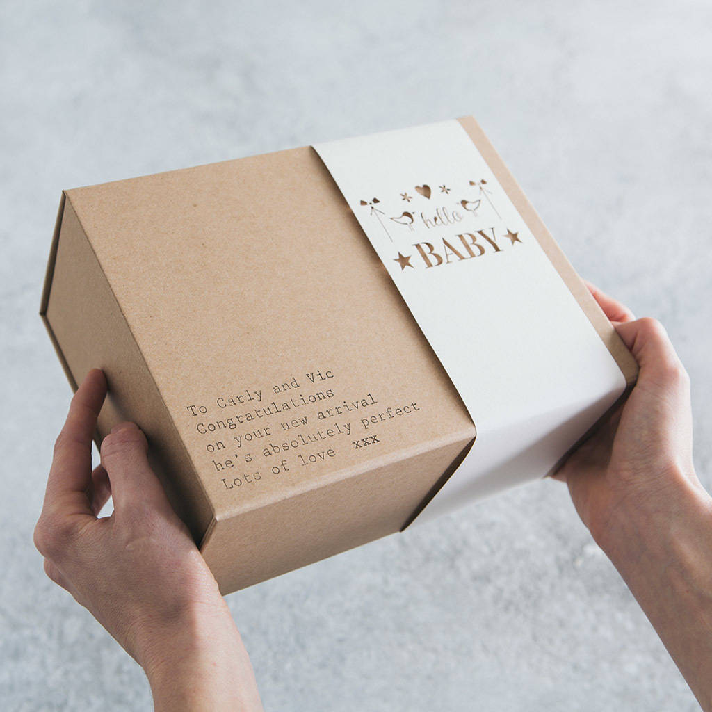 'hello Baby' Personalised Gift Box By Fora Creative
