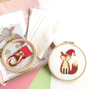 Christmas Fox Cross Stitch Kit - what's new
