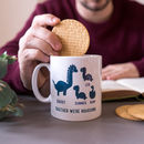 Personalised Daddy And Me Dinosaur Mug