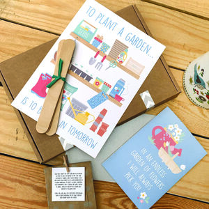 Garden Themed 'Thinking Of You' Letterbox Gift Box