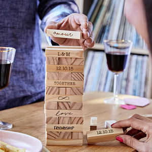 Personalised Couples Stacking Tower - gifts for him