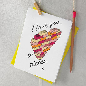 I Love You To Pieces Valentine Or Anniversary Card - shop by category