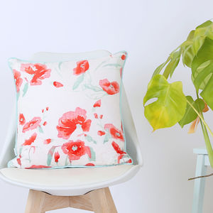 Screen Printed Hannah Rose Cushion - cushions