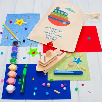 Personalised Make Your Own Mini Wooden Boat Kit