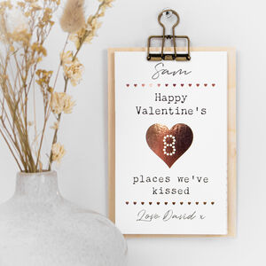 Places We've Kissed Cards On Clipboard