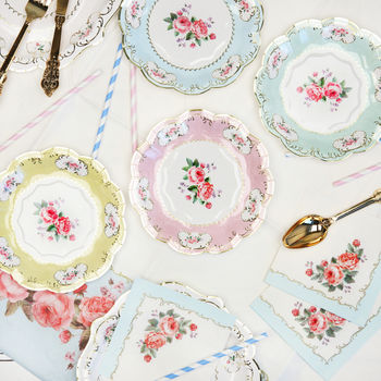 Afternoon Tea Floral Tea Plates