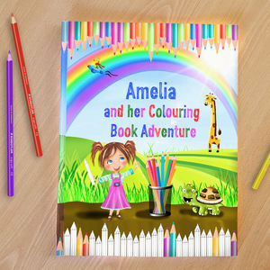 Personalised Childrens Colouring Book Adventure - books