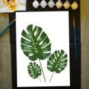 Luscious Leaf Painting By Numbers Kit