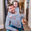 Personalised Daddy And Me Breton Tops
