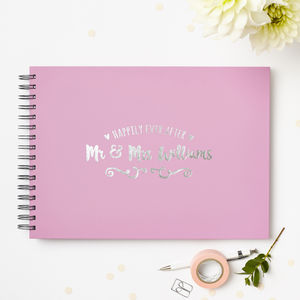 Personalised 'Ever After' Wedding Guest Book