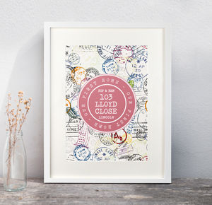Personalised Home Stamp Print - new in prints & art