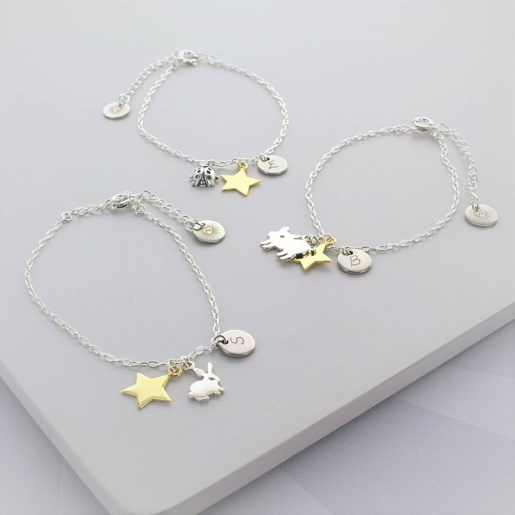 Personalised Animal Charm Bracelets