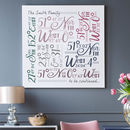 large canvas - multicoloured text