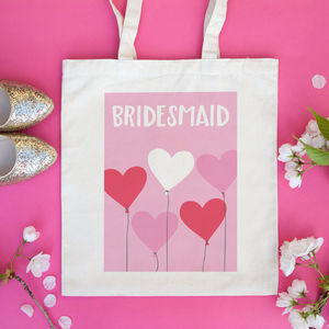 Personalised 'Heart Balloons' Wedding Or Hen Party Bag