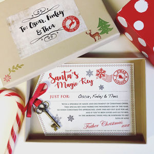 Personalised Magic Santa Key - christmas decorations