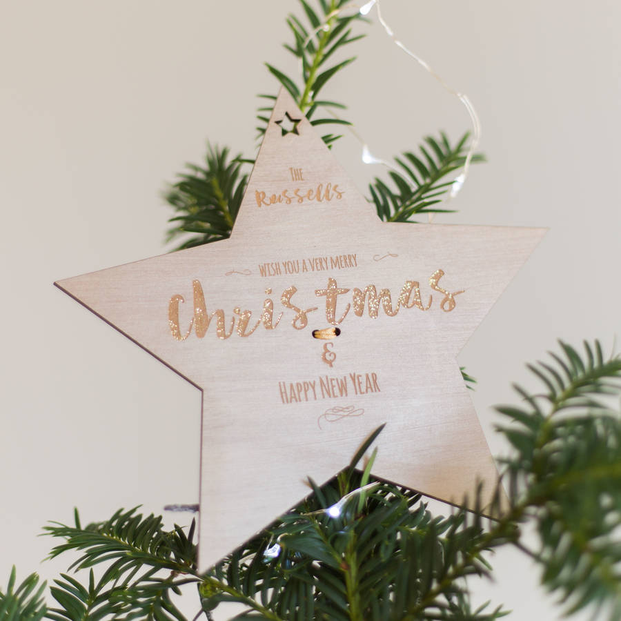 Letter Christmas Tree Topper: Personalised Christmas Tree Topper By Rocket And Fox