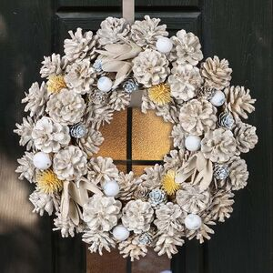Morning Frost Hand Crafted Winter Wreath