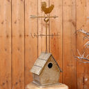 Personalised Tin Birdhouse With Weathervane