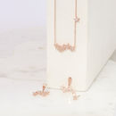 Starburst necklace rose gold plated