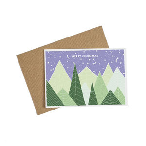 Alpine Tree Christmas Card - cards & wrap
