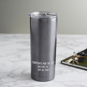 Personalised 'Hot Contents' Travel Cup