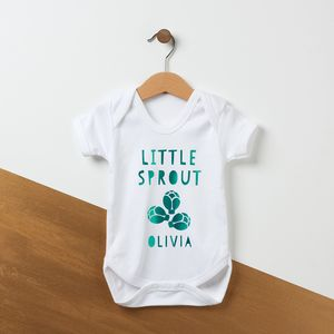 First Christmas Little Sprout Babygrow - baby's first christmas
