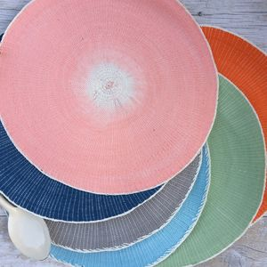 Fading Colour Round Seagrass Table Place Mat - placemats & coasters
