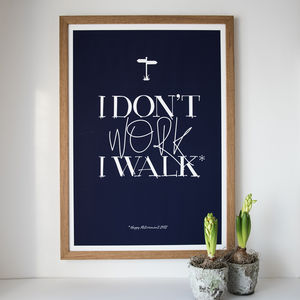 I Don't Work Personalised Retirement Print