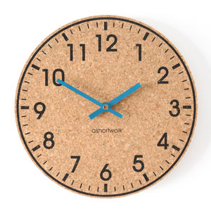 Eco Cork Wall Clock - home accessories