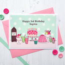 'Party' Girls Personalised Birthday Card