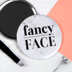 Fancy Face Pocket Mirror Or Badge