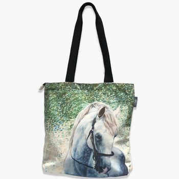 White Horse Tote Bag | Grooming Bag | Horse Presents