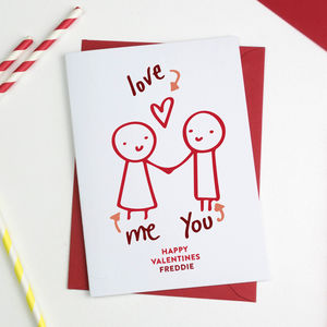 Couple Doodle Valentines Card - cards & wrap