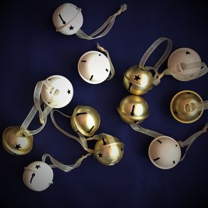 Cream And Gold Bell Christmas Decorations