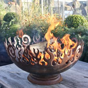 Rusted Flames Firepit - fire pits & outdoor heating
