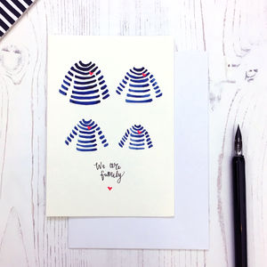 Breton Design Family Card - blank cards