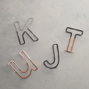 Colour Dip Alphabet Wire Letters And Ampersand Set - children's room