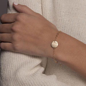 'Moon Tide' Disc Bracelet Gold Or Silver - bracelets & bangles
