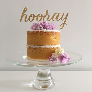 Hooray Graduation Cake Topper