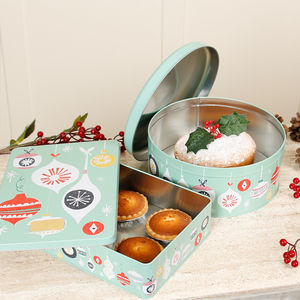 Jolie Noel Christmas Cake Mince Pie Tin Collection - storage & organising