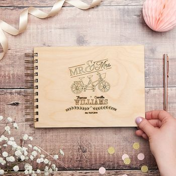 Couples Bike Wedding Guest Book