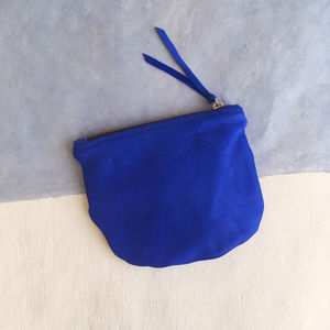 Soft Leather Slouch Clutch Bag